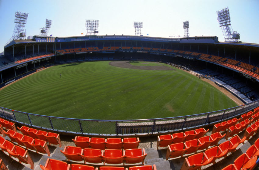DETROIT- SEPTEMBER 27: A general view of Tiger Stadium prior to the final baseball game played at the 87 year old Tiger Stadium as the Detroit Tigets host the Kansas City Royals on September 27, 1999 in Detroit, Michigan. There was 6,873 games played at the corner of Michigan and Trumbul streets. The Tigers won the game 8-2. (Photo by Ezra Shaw/Gettyimages)
