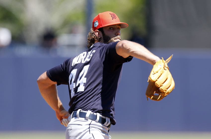 TAMPA, FL - MARCH 11: Daniel Norris #44 of the Detroit Tigers pitches in the first inning against the New York Yankees during a spring training game at George M. Steinbrenner Field on March 11, 2017 in Tampa, Florida. (Photo by Justin K. Aller/Getty Images)