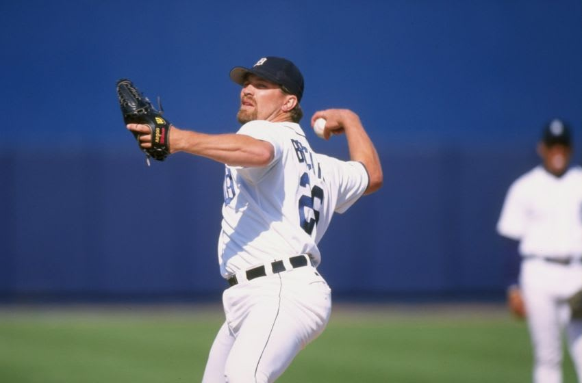 12 Mar 1998: Pitcher Doug Brocail of the Detroit Tigers in action during a spring training game against the Florida Marlins at the Joker Marchant Stadium in Lakeland, Florida. The Tigers won the game, 4-3. Mandatory Credit: Rick Stewart /Allsport
