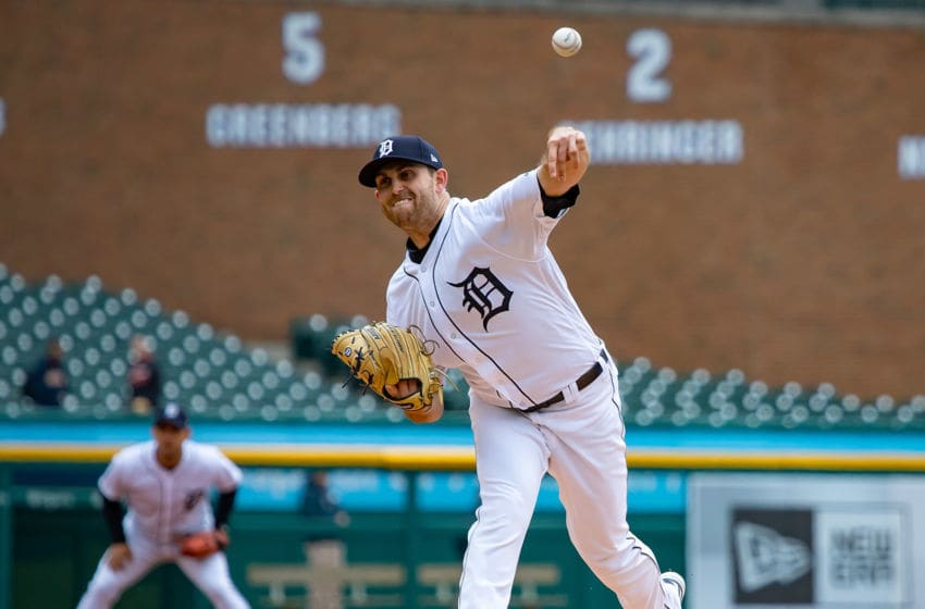 DETROIT, MI - APRIL 18: Starting pitcher Matthew Boyd #48 of the Detroit Tigers throws in the first inning against the Baltimore Orioles during a MLB game at Comerica Park on April 18, 2018 in Detroit, Michigan. (Photo by Dave Reginek/Getty Images)