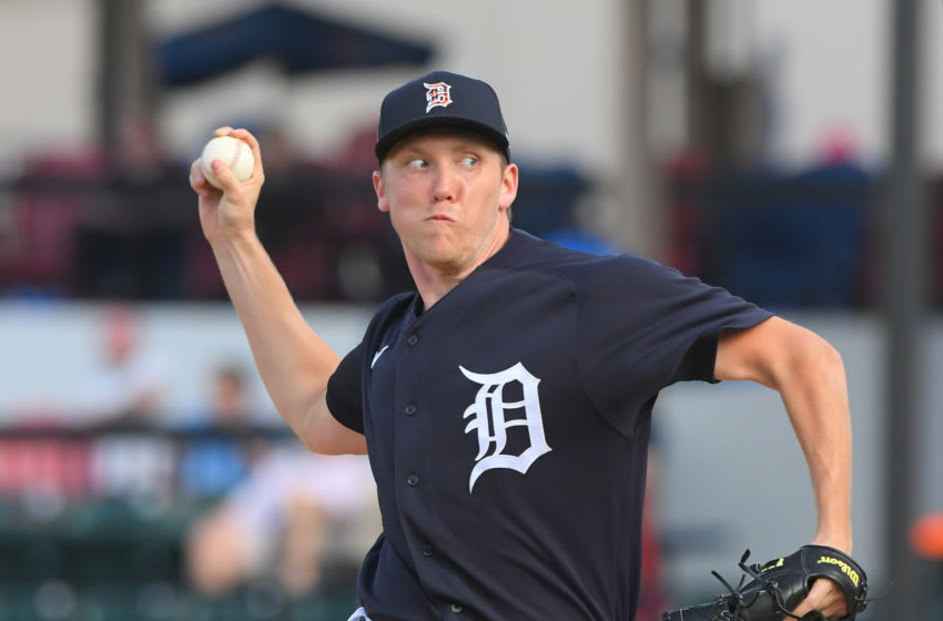 LAKELAND, FL - FEBRUARY 24: Zack Hess #68 of the Detroit Tigers pitches during the Spring Training game against the Houston Astros at Publix Field at Joker Marchant Stadium on February 24, 2020 in Lakeland, Florida. The Astros defeated the Tigers 11-1. (Photo by Mark Cunningham/MLB Photos via Getty Images)