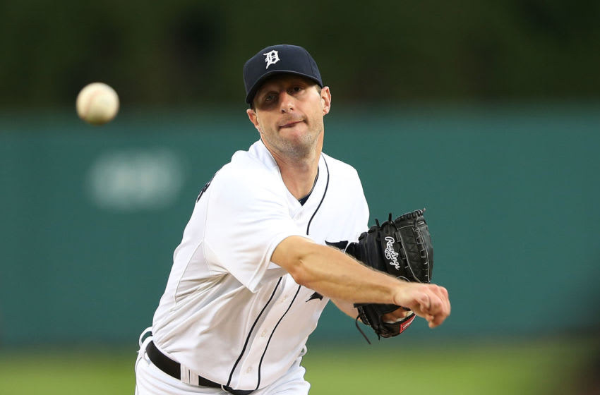 DETROIT, MI - SEPTEMBER 25: Max Scherzer #37 of the Detroit Tigers warms up prior to the start of the game against the Detroit Tigers at Comerica Park on September 25, 2014 in Detroit, Michigan. (Photo by Leon Halip/Getty Images)