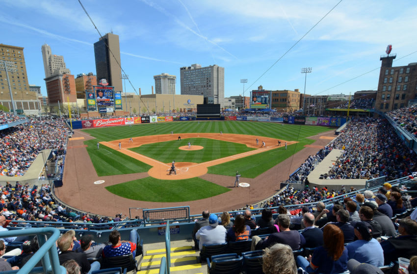 TOLEDO, OH - APRIL 04: A general view of a sold out Fifth Third Field during the exhibition game between the Detroit Tigers and the Toledo Mud Hens at Fifth Third Field on April 4, 2012 in Toledo, Ohio. The Tigers defeated the Mud Hens 8-3. (Photo by Mark Cunningham/MLB Photos via Getty Images)