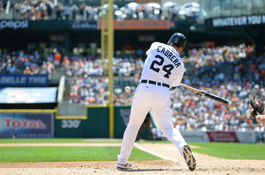 Miguel Cabrera bats during the game against the Orioles on June 19, 2013. (Photo by Mark Cunningham/MLB Photos via Getty Images)