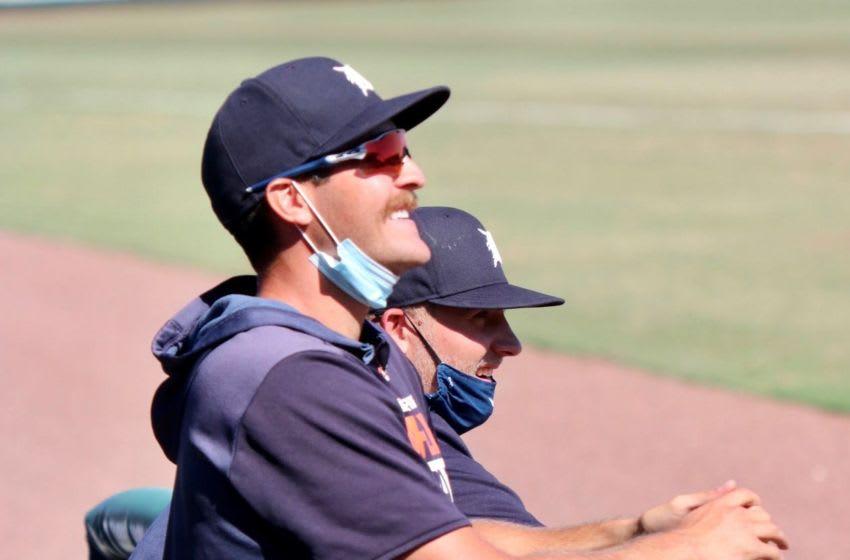 Detroit Tigers prospect Jason Foley during 2020 instructional league play in Lakeland, Florida. Jason Foley 3