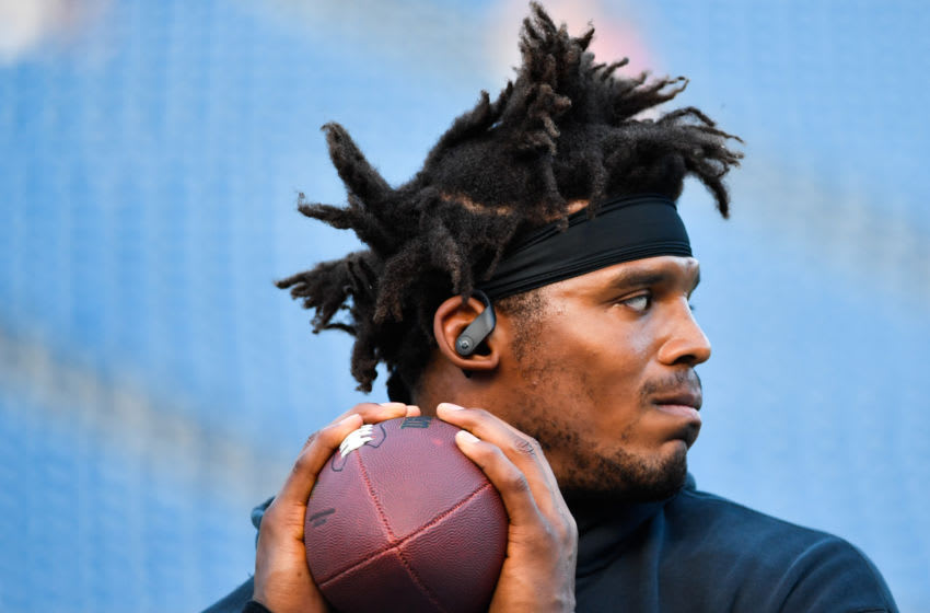 Cam Newton of the New England Patriots (Photo by Kathryn Riley/Getty Images)