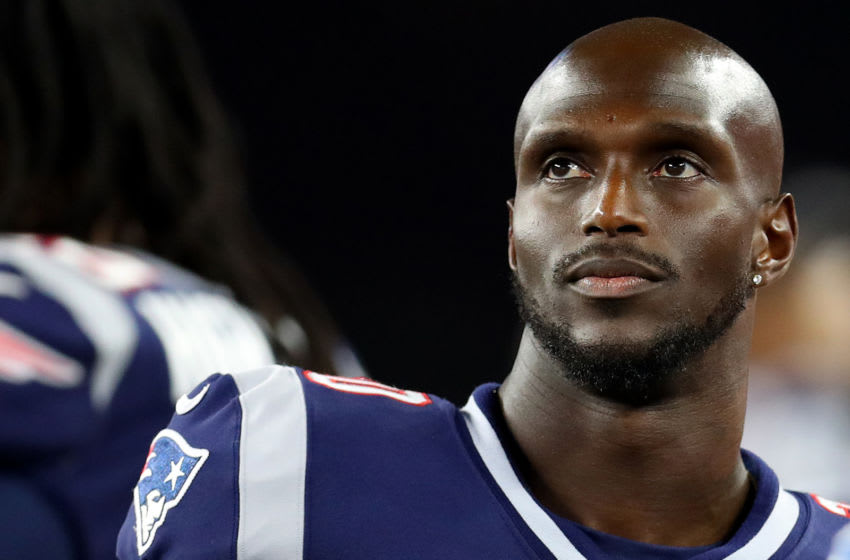 FOXBOROUGH, MASSACHUSETTS - AUGUST 29: Jason McCourty #30 of the New England Patriots looks on during the preseason game between the New York Giants and the New England Patriots at Gillette Stadium on August 29, 2019 in Foxborough, Massachusetts. (Photo by Maddie Meyer/Getty Images)