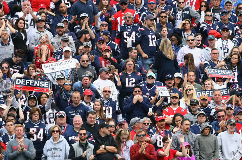 FOXBOROUGH, MA - SEPTEMBER 09: A general view of fans during the game between the Houston Texans and the New England Patriots at Gillette Stadium on September 9, 2018 in Foxborough, Massachusetts. (Photo by Maddie Meyer/Getty Images)