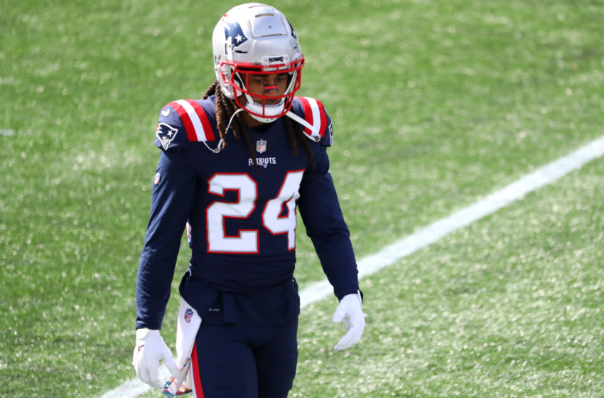 FOXBOROUGH, MASSACHUSETTS - OCTOBER 18: Stephon Gilmore #24 of the New England Patriots (Photo by Maddie Meyer/Getty Images)