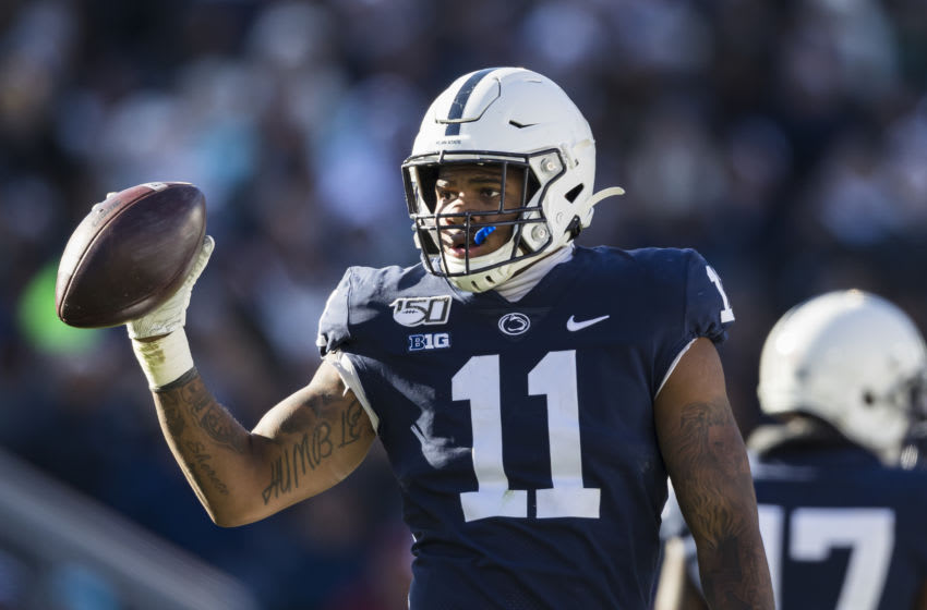 STATE COLLEGE, PA - NOVEMBER 16: Micah Parsons #11 of the Penn State Nittany Lions (Photo by Scott Taetsch/Getty Images)