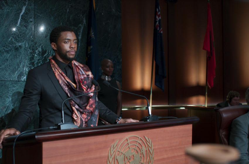 Marvel Studios' BLACK PANTHER..T'Challa/Black Panther (Chadwick Boseman)..Ph: Film Frame..©Marvel Studios 2018