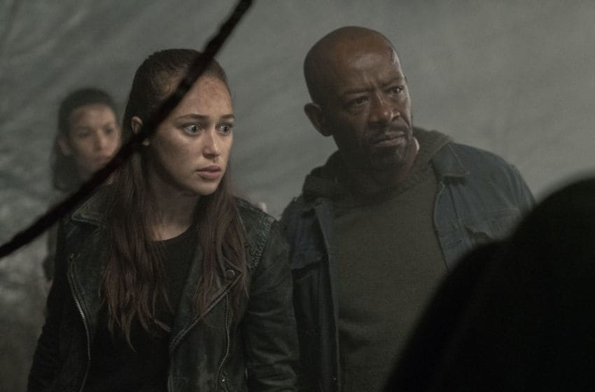 Alycia Debnam-Carey as Alicia Clark, Danay Garcia as Luciana, Lennie James as Morgan Jones - Fear the Walking Dead _ Season 5, Episode 3 - Photo Credit: Ryan Green/AMC