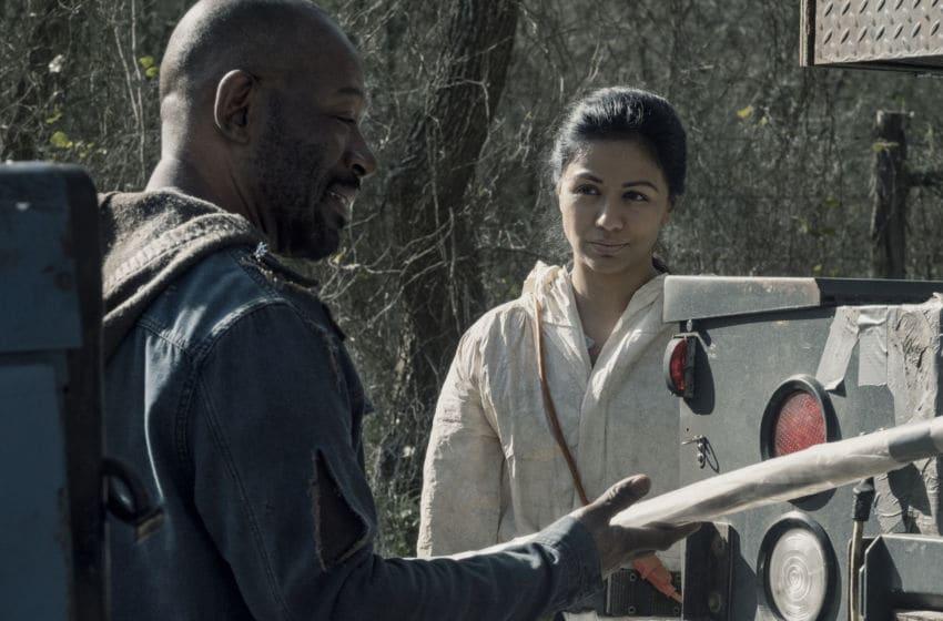 Lennie James as Morgan Jones, Karen David as Grace- Fear the Walking Dead _ Season 5, Episode 6 - Photo Credit: Ryan Green/AMC