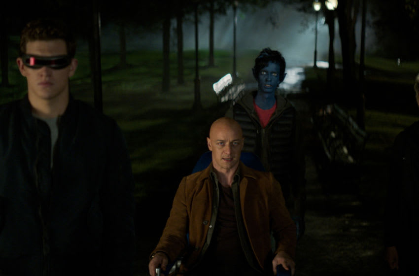 TR_0130_v0087_MPC.1023 – L-R: Tye Sheridan, James McAvoy, Kodi Smit-McPhee, and Alexandra Shipp in Twentieth Century Fox's DARK PHOENIX. Photo Credit: Courtesy Twentieth Century Fox.