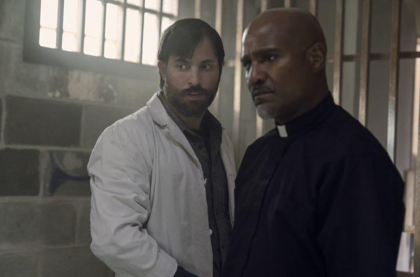 Seth Gilliam as Father Gabriel Stokes, Juan Javier Cardenas as Dante - The Walking Dead _ Season 10, Episode 7 - Photo Credit: Jace Downs/AMC