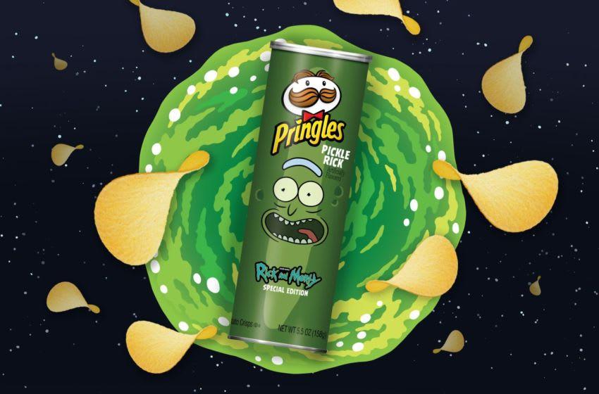 Pringles Rick and Morty 'Pickle Rick' crisps, photo provided by Pringles