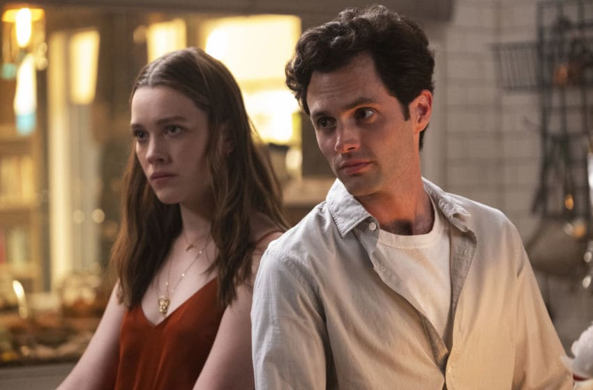 Photo: Victoria Pedretti and Penn Badgley in You season 2.. Credit: Beth Dubber/Netflix