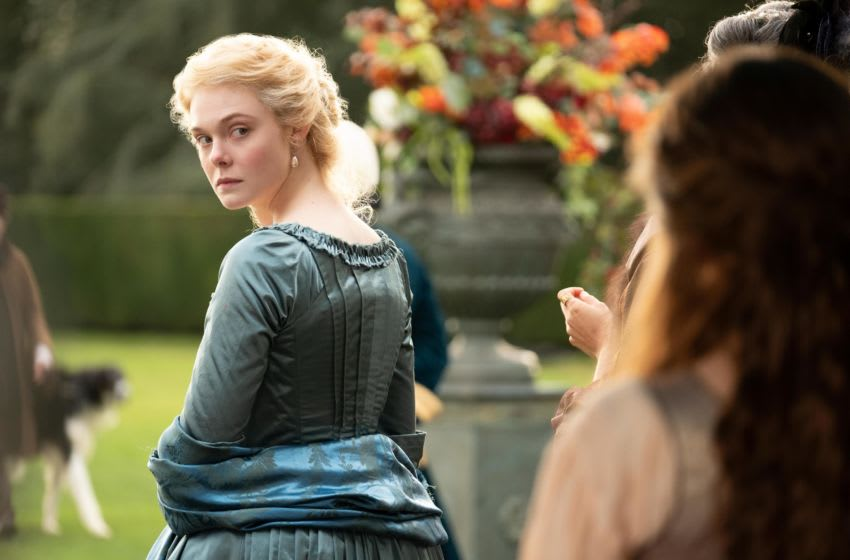 Pictured: Elle Fanning as Catherine the Great in Episode 101 'The Great' of The Great, Courtesy of Hulu