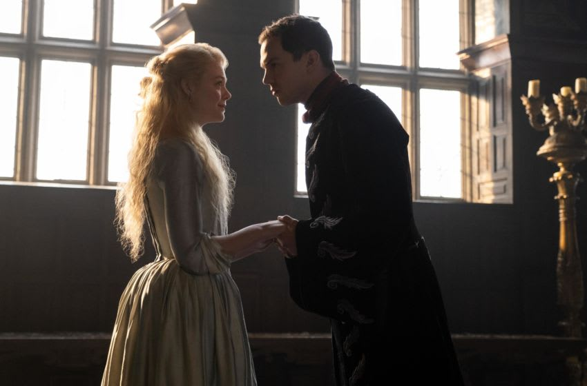Pictured: (L-R) Nicholas Hoult as Peter III of Russia and Elle Fanning as Catherine the Great in Episode 101 'The Great' of The Great, Courtesy of Hulu
