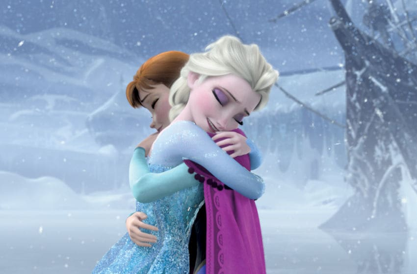 FROZEN -When the newly crowned Queen Elsa accidentally uses her power to turn things into ice to curse her home in infinite winter, her sister, Anna, teams up with a mountain man, his playful reindeer, and a snowman to change the weather condition. (Disney) ELSA, ANNA