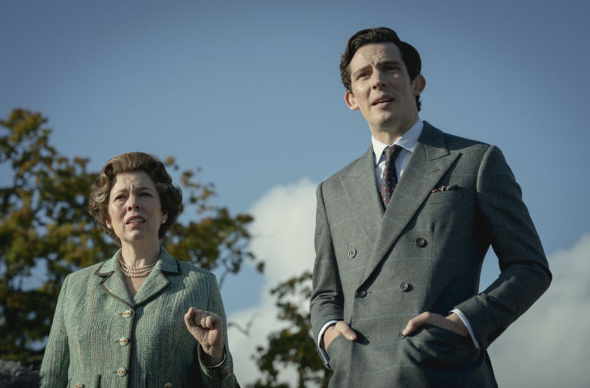 Picture shows: Queen Elizabeth II (OLIVIA COLMAN) and Prince Charles (JOSH O CONNOR). Image courtesy Des Willie/Netflix