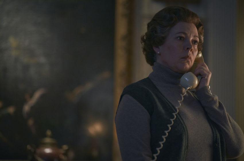 The Crown season 4 - Queen Elizabeth II (OLIVIA COLMAN) - Credit: Des Willie/Netflix