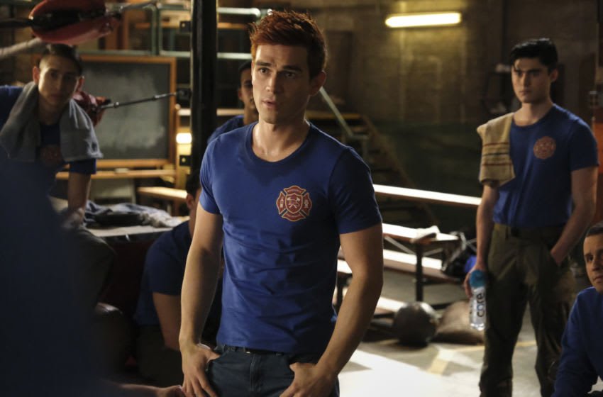 """Riverdale -- """"Chapter Eighty-Three: Fire In The Sky"""" -- Image Number: RVD507b_0291r -- Pictured: KJ Apa as Archie Andrews -- Photo: Bettina Strauss/The CW -- © 2021 The CW Network, LLC. All Rights Reserved."""