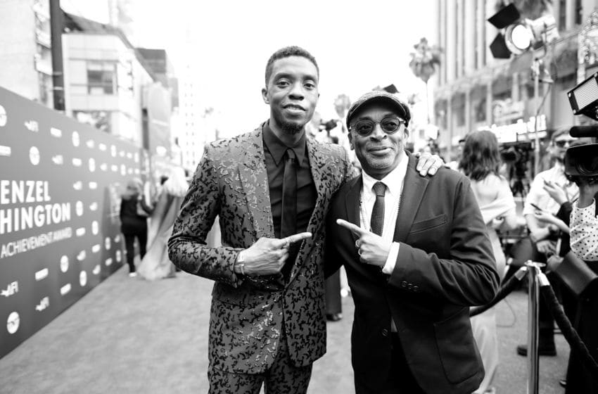 Chadwick Boseman and Spike Lee (Photo by Charley Gallay/Getty Images for WarnerMedia) 610288
