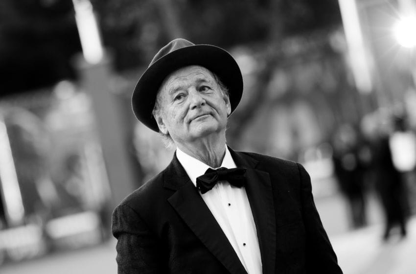 ROME, ITALY - OCTOBER 19: (EDITORS NOTE: This image has been converted in black and white) Bill Murray walks the red carpet during the 14th Rome Film Festival on October 19, 2019 in Rome, Italy. (Photo by Vittorio Zunino Celotto/Getty Images for RFF)
