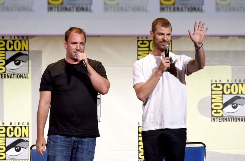 SAN DIEGO, CA - JULY 22: Writer/producers Trey Parker (L) and Matt Stone attend Comedy Central