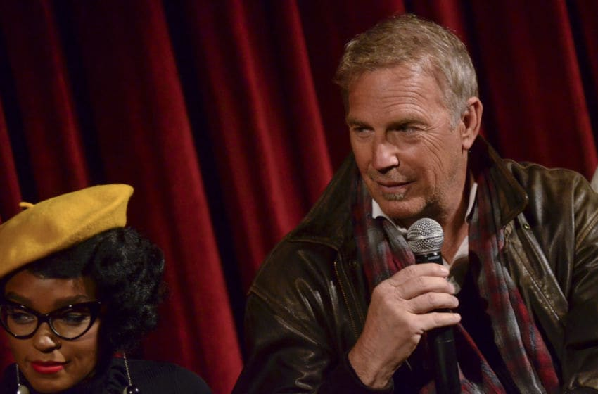 NEW YORK, NY - DECEMBER 08: Kevin Costner speaks during an official academy screening of HIDDEN FIGURES hosted by the The Academy of Motion Picture Arts and Sciences at MOMA - Celeste Bartos Theater on December 8, 2016 in New York City. (Photo by Kris Connor/Getty Images for Academy of Motion Picture Arts and Sciences)
