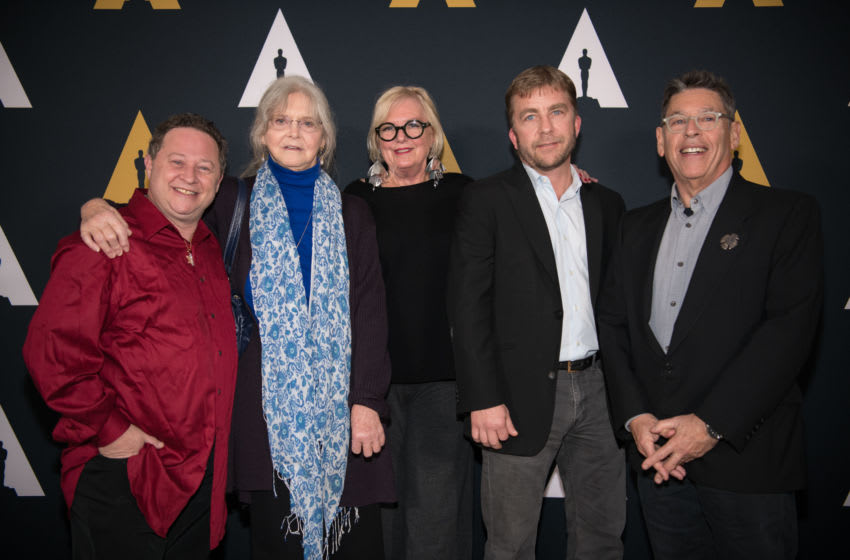 BEVERLY HILLS, CA - DECEMBER 10: Scott Schwartz, Melinda Dillon, Mary E. McLeod, Peter Billingsley, and Reuben Freed arrive at the Academy Of Motion Picture Arts And Sciences 35th Anniversary Screening Of