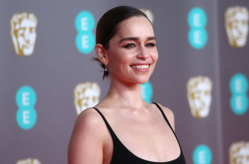 LONDON, ENGLAND - FEBRUARY 02: Emilia Clarke attends the EE British Academy Film Awards 2020 at Royal Albert Hall on February 02, 2020 in London, England. (Photo by Lia Toby/Getty Images)
