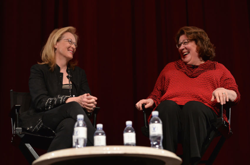 LOS ANGELES, CA - JANUARY 05: Actors Meryl Streep and Margo Martindale attend a Q&A session following a screening of The Weinstein Co.'s