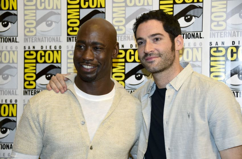 Lucifer stars D.B. Woodside and Tom Ellis (Photo by Frazer Harrison/Getty Images)