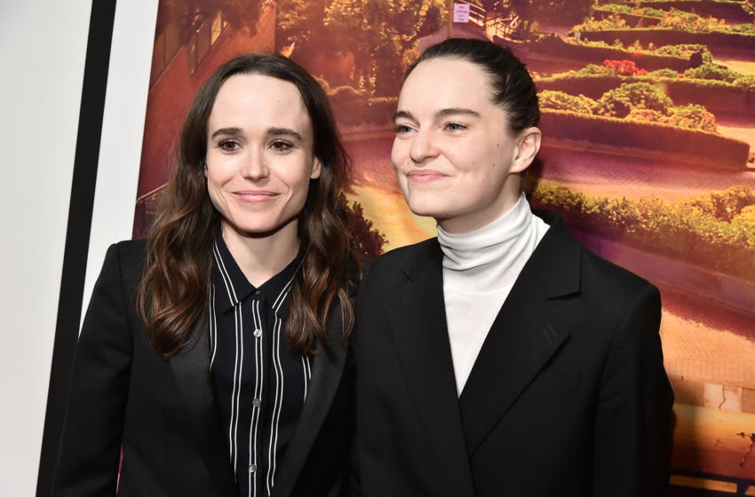 NEW YORK, NEW YORK - JUNE 03: Ellen Page and Emma Portner attend