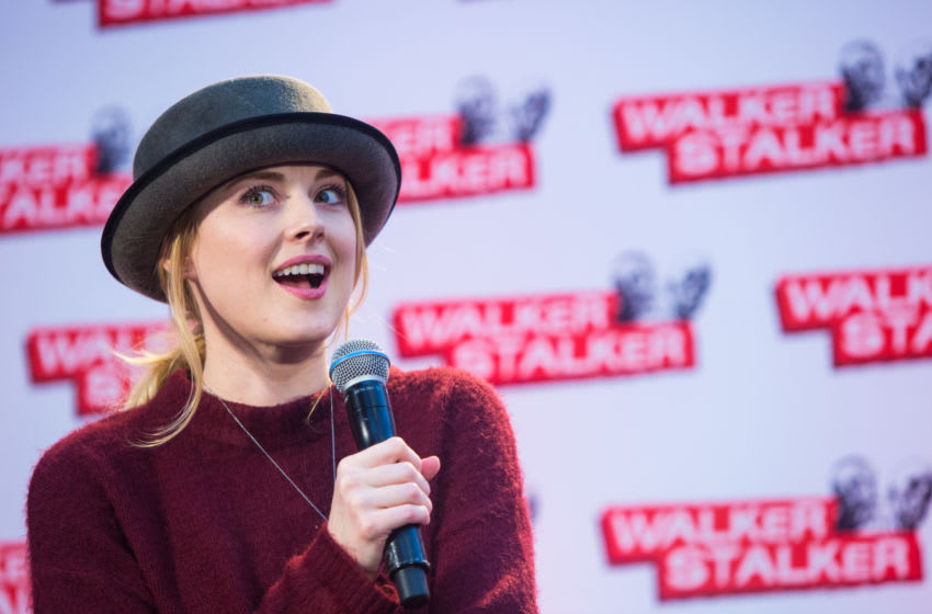 LONDON, ENGLAND - FEBRUARY 21: Alexandra Breckenridge takes part in a panel on the second day of Walker Stalker Con at Olympia Exhibition Centre on February 21, 2016 in London, England. (Photo by Lorne Thomson/Getty Images)