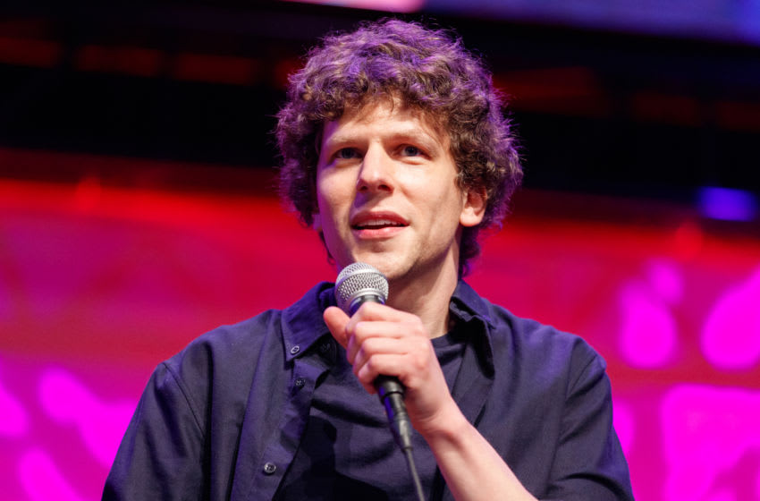LOS ANGELES, CALIFORNIA - OCTOBER 12: Actor Jesse Eisenberg on stage at a