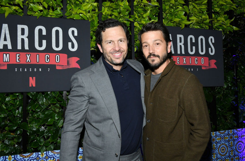 LOS ANGELES, CA - FEBRUARY 6: Eric Newman and Diego Luna attend the after party of Netflix's