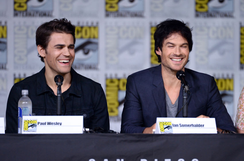 SAN DIEGO, CA - JULY 23: (L-R) Actors Paul Wesley and Ian Somerhalder attend the