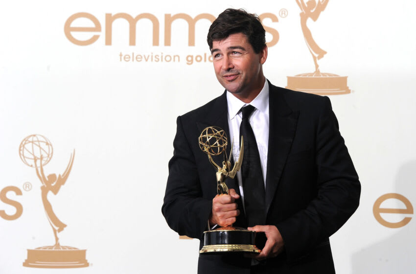 LOS ANGELES, CA - SEPTEMBER 18: Actor Kyle Chandler of 'Friday Night Lights' poses in the press room after winning Outstanding Lead Actor in a Drama Series during the 63rd Annual Primetime Emmy Awards held at Nokia Theatre L.A. LIVE on September 18, 2011 in Los Angeles, California. (Photo by Frazer Harrison/Getty Images)