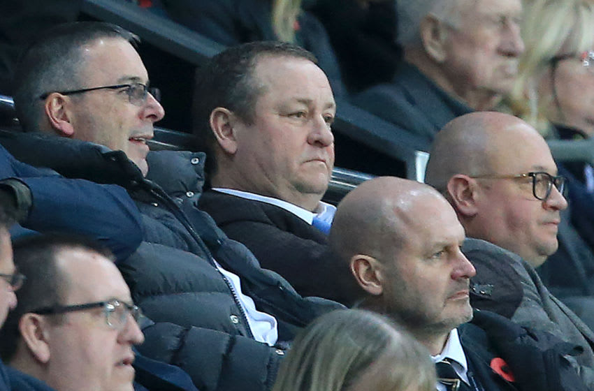Newcastle United's English owner Mike Ashley.(Photo by Lindsey PARNABY/AFP)