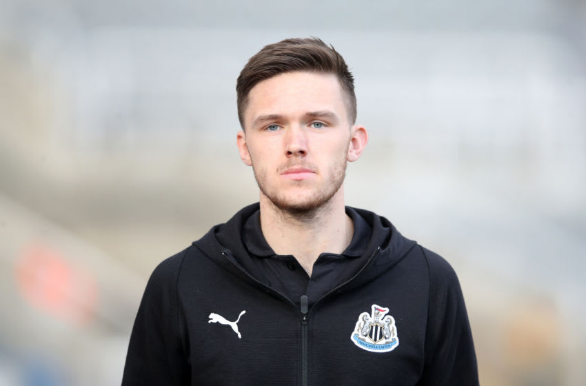 NEWCASTLE UPON TYNE, ENGLAND - FEBRUARY 23: Freddie Woodman of Newcastle United arrives at the stadium prior to the Premier League match between Newcastle United and Huddersfield Town at St. James Park on February 23, 2019 in Newcastle upon Tyne, United Kingdom. (Photo by Ian MacNicol/Getty Images)