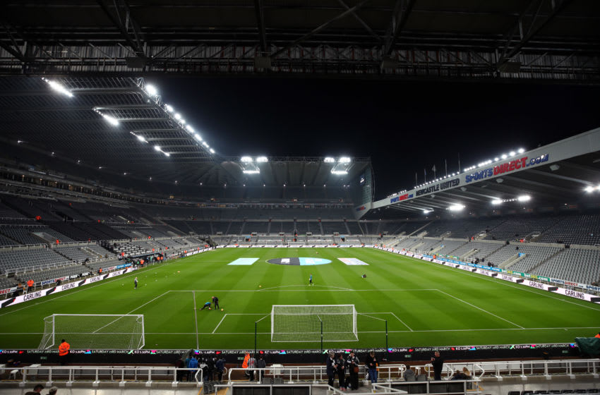 NEWCASTLE UPON TYNE, ENGLAND - FEBRUARY 26: General view inside the stadium ahead of the Premier League match between Newcastle United and Burnley FC at St. James Park on February 26, 2019 in Newcastle upon Tyne, United Kingdom. (Photo by Clive Brunskill/Getty Images)