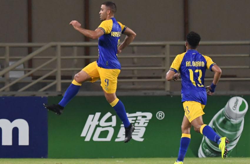 Nassr FC's Moroccan forward Abderrazak Hamdallah (Photo credit KARIM SAHIB/AFP via Getty Images)