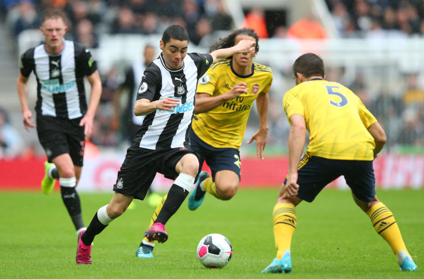 NEWCASTLE UPON TYNE, ENGLAND - AUGUST 11: Miguel Almiron of Newcastle United during the Premier League match between Newcastle United and Arsenal FC at St. James Park on August 11, 2019 in Newcastle upon Tyne, United Kingdom. (Photo by Alex Livesey/Getty Images)
