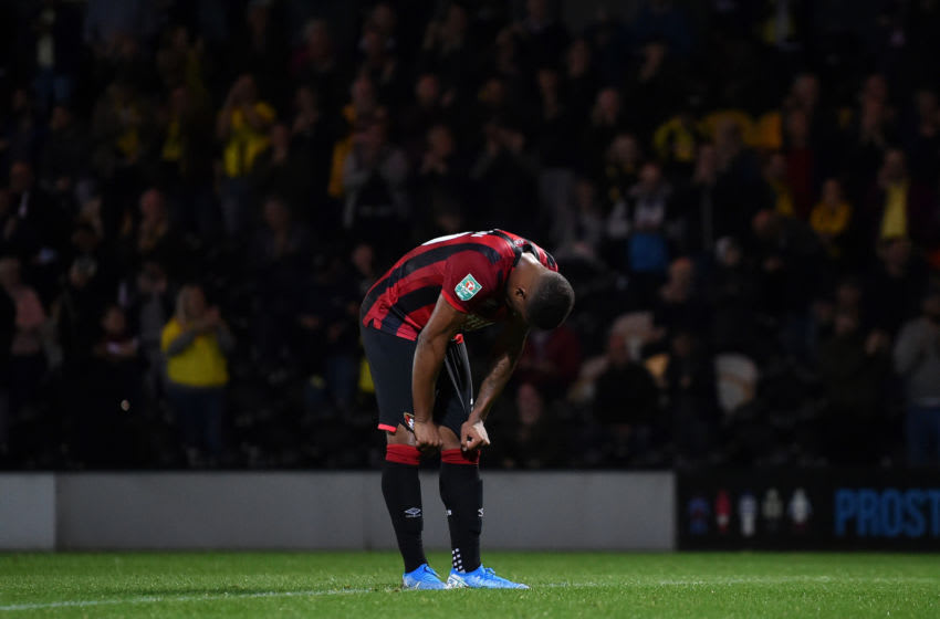 Jordon Ibe of AFC Bournemouth. (Photo by Nathan Stirk/Getty Images)