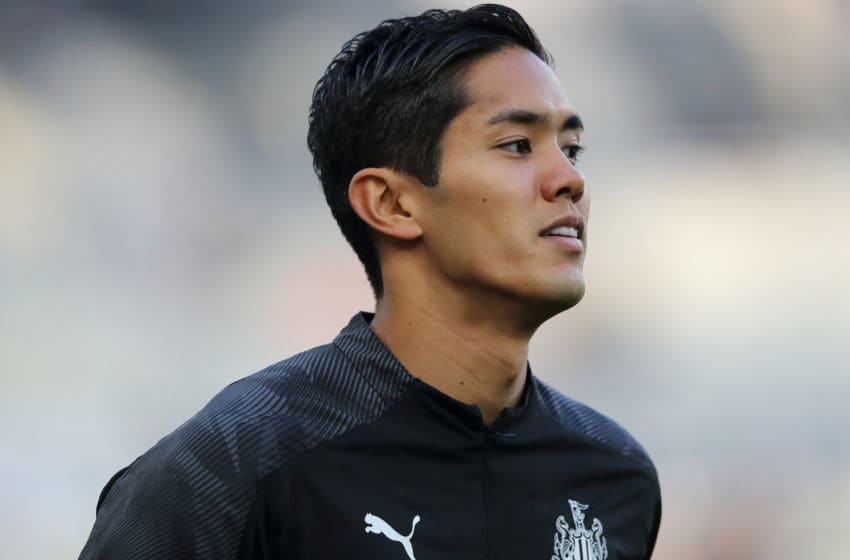 Yoshinori Muto of Newcastle United. (Photo by Matthew Ashton - AMA/Getty Images)