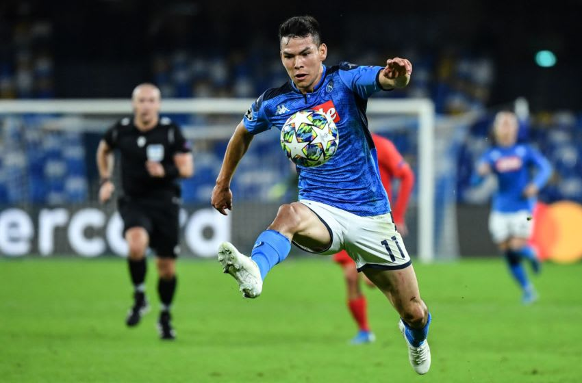 Napoli's Mexican forward Hirving Lozano (Photo by Alberto PIZZOLI / AFP) (Photo by ALBERTO PIZZOLI/AFP via Getty Images)