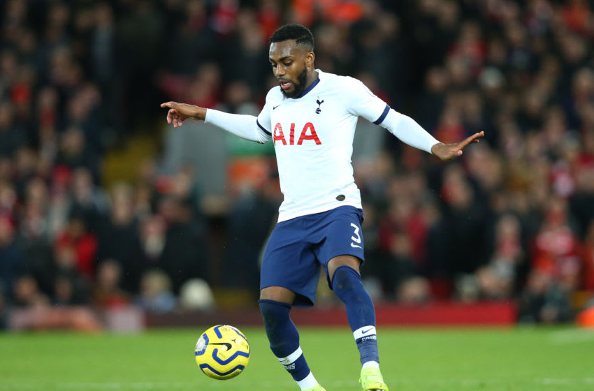 LIVERPOOL, ENGLAND - OCTOBER 27: Danny Rose of Tottenham Hotspur during the Premier League match between Liverpool FC and Tottenham Hotspur at Anfield on October 27, 2019 in Liverpool, United Kingdom. (Photo by Alex Livesey/Getty Images)